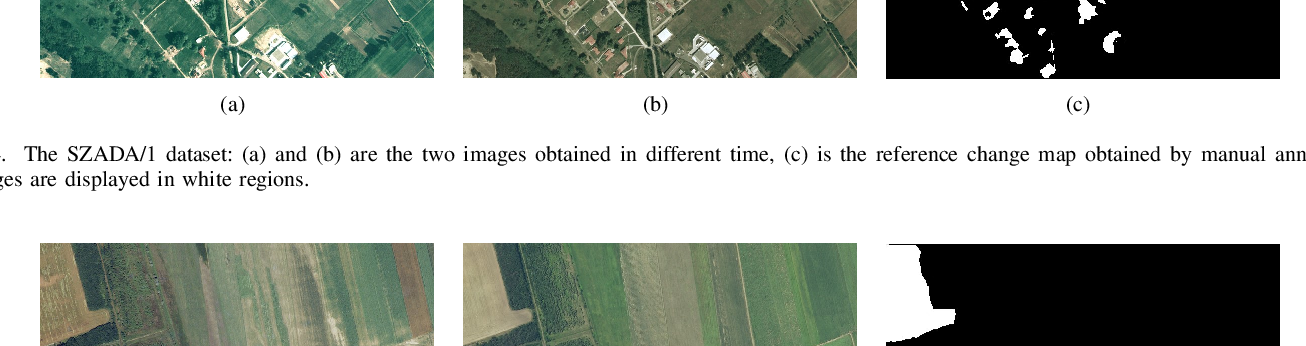 Figure 4 for Unsupervised Self-training Algorithm Based on Deep Learning for Optical Aerial Images Change Detection