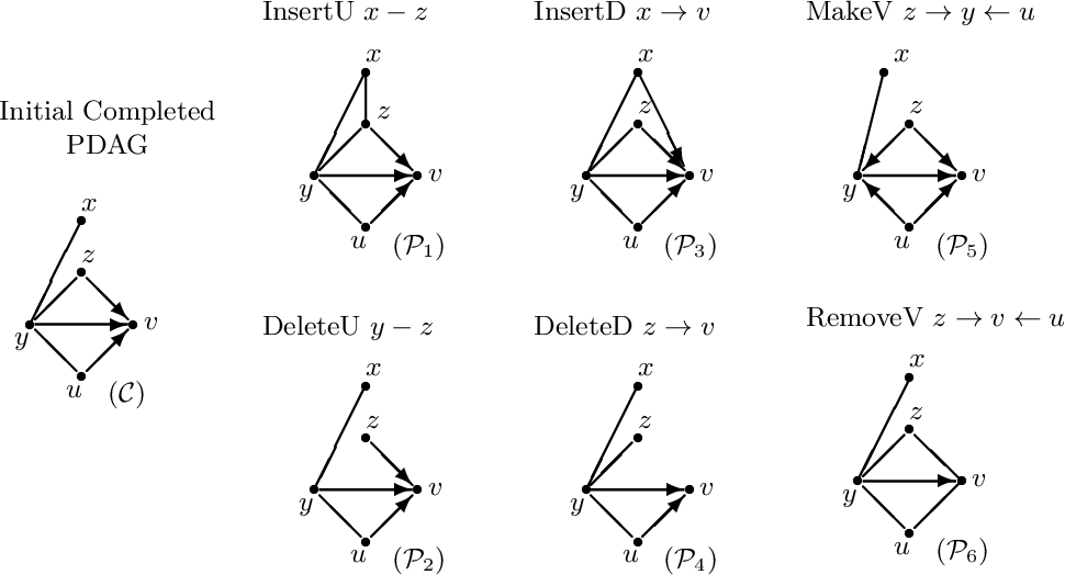 """Figure 2 for Supplement to """"Reversible MCMC on Markov equivalence classes of sparse directed acyclic graphs"""""""