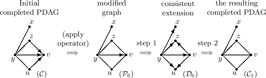 """Figure 3 for Supplement to """"Reversible MCMC on Markov equivalence classes of sparse directed acyclic graphs"""""""