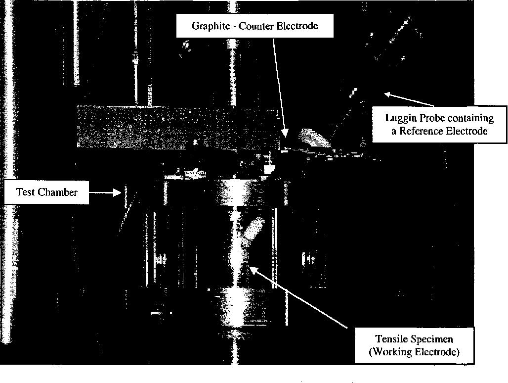 Figure 3.12 SCC Test Setup Under Controlled Potential