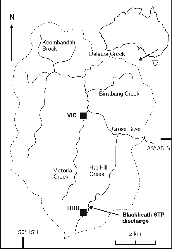 Figure 1 from diel variation in chironomid diptera insecta 1 map of chironomid exuviae collection sites and waterways in the upper grose river gumiabroncs Image collections