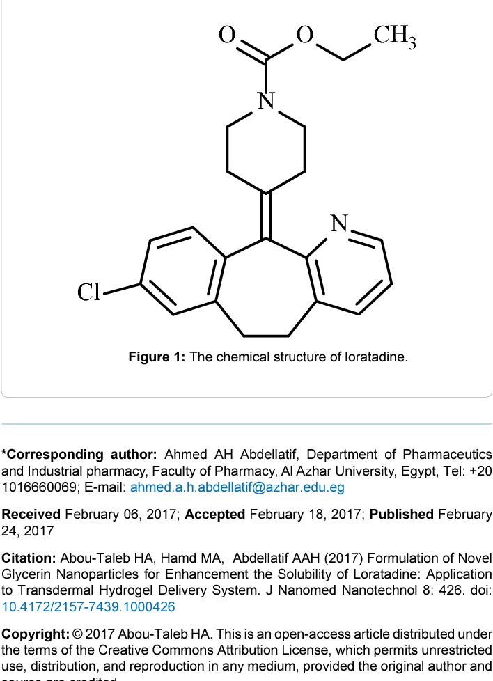 PDF] Formulation of Novel Glycerin Nanoparticles for