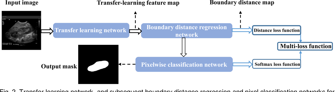 Figure 2 for Subsequent Boundary Distance Regression and Pixelwise Classification Networks for Automatic Kidney Segmentation in Ultrasound Images