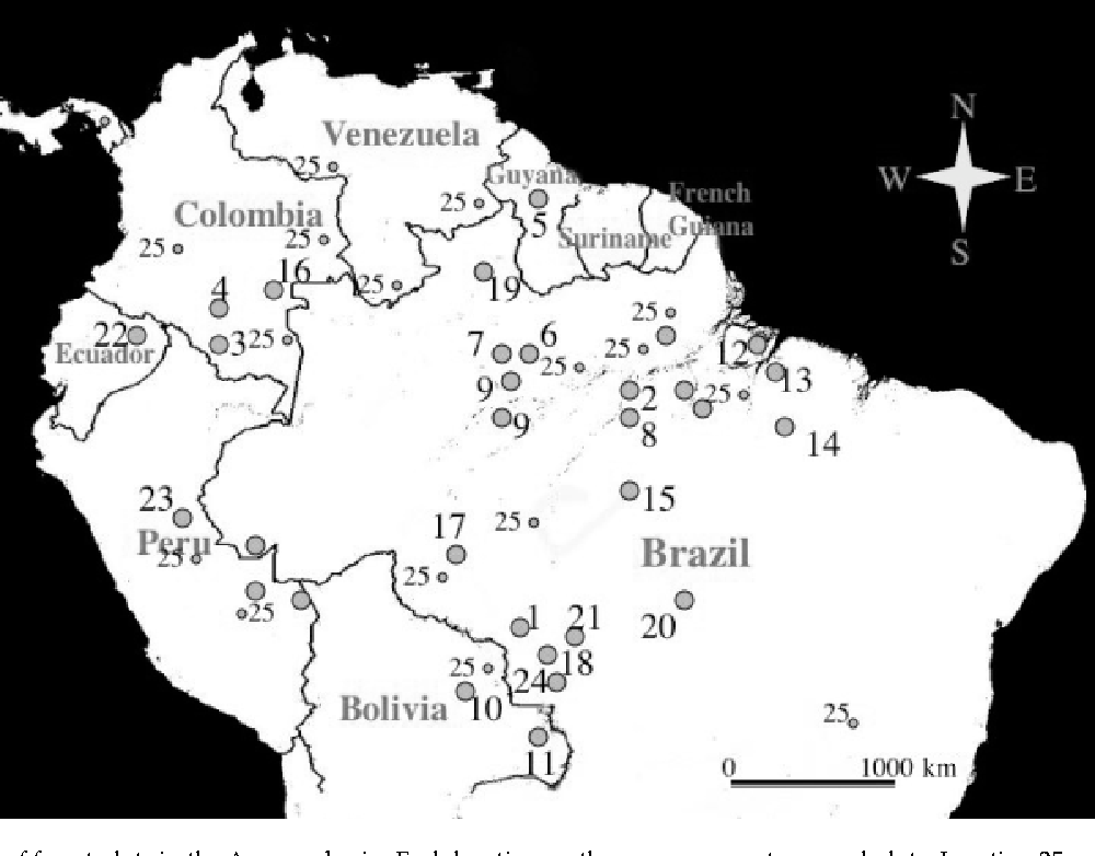 Figure 1 From Distribution Of Aboveground Live Biomass In The Amazon
