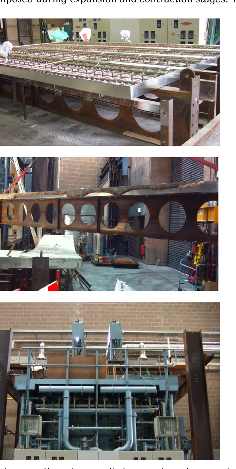 Fire resistance of axial restraint composite floor steel