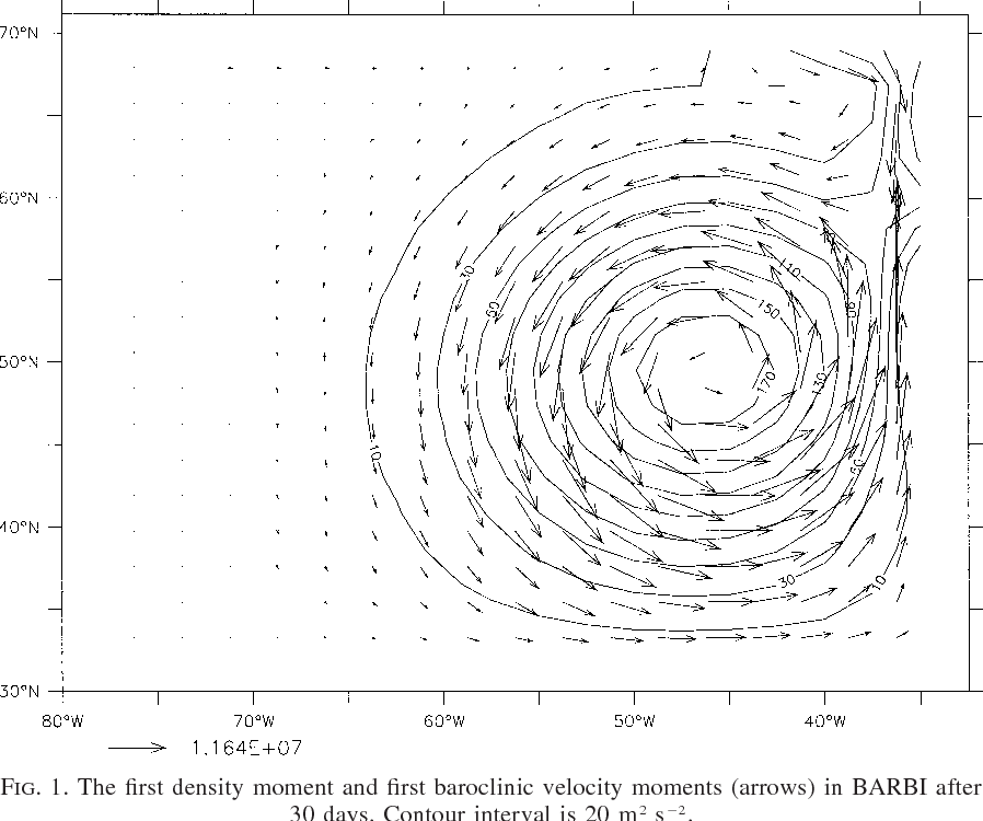 A Simplified General Circulation Model For A Baroclinic Ocean With