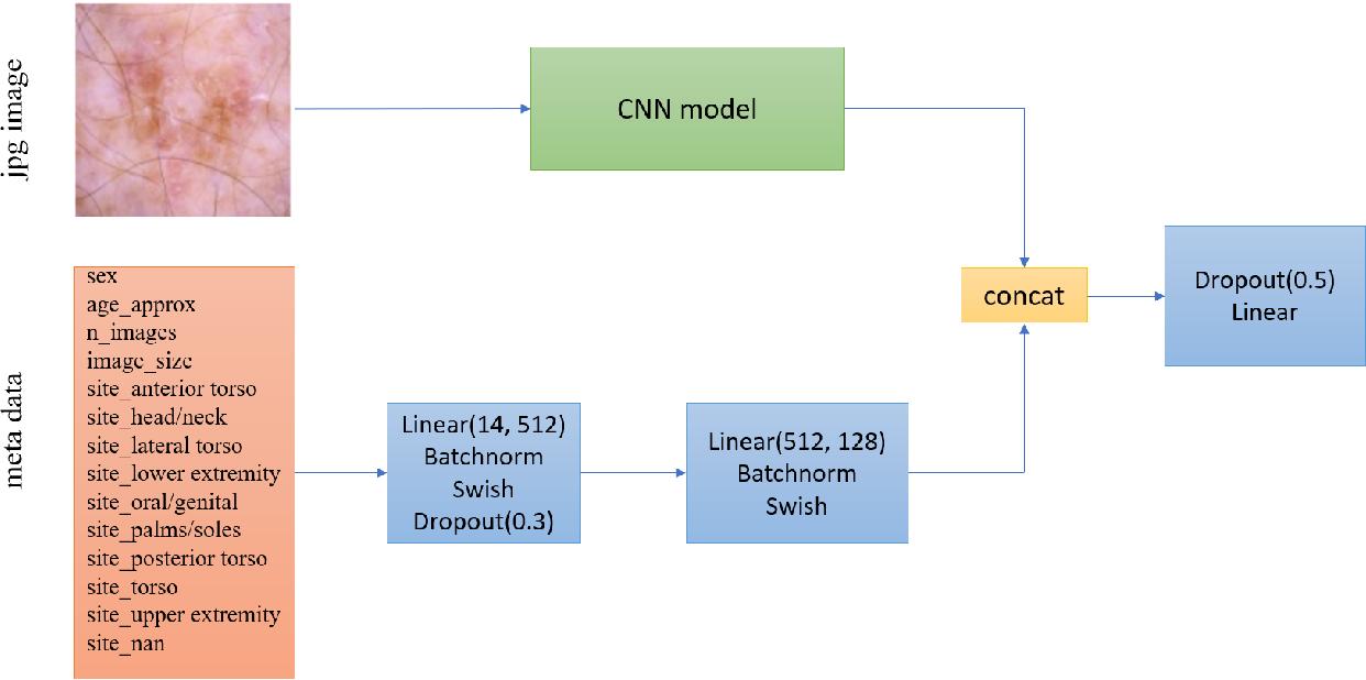 Figure 2 for Identifying Melanoma Images using EfficientNet Ensemble: Winning Solution to the SIIM-ISIC Melanoma Classification Challenge