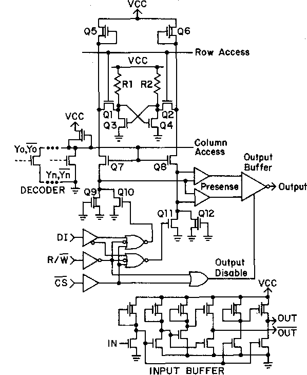 Figure 2 From A 4k Static Clocked And Nonclocked Ram Design