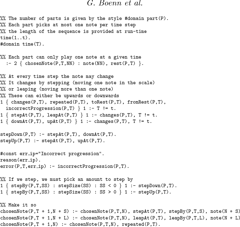 Figure 1 for Automatic Music Composition using Answer Set Programming