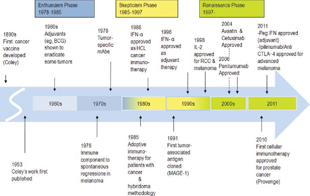 foto The history of cancer immunotherapy