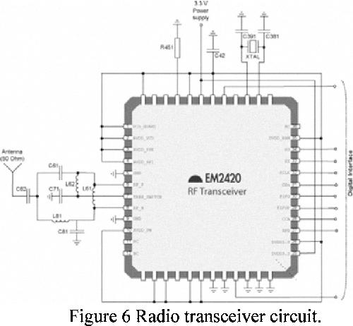Figure 6 Radio transceiver circuit.