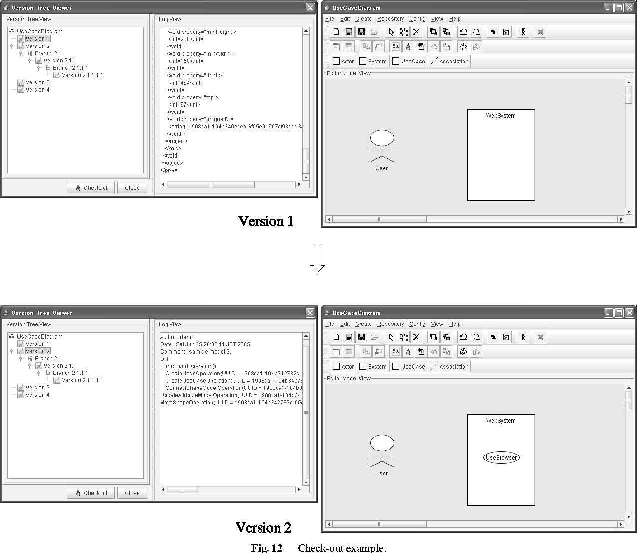 Meta modeling based version control system for software diagrams figure 12 pooptronica