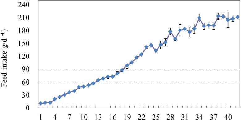 Figure 4. Broilers feed intake diurnal variation in production practice