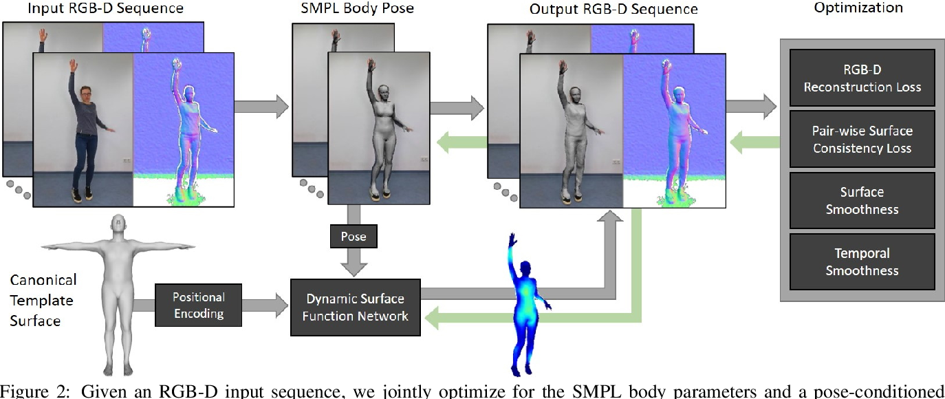Figure 2 for Dynamic Surface Function Networks for Clothed Human Bodies