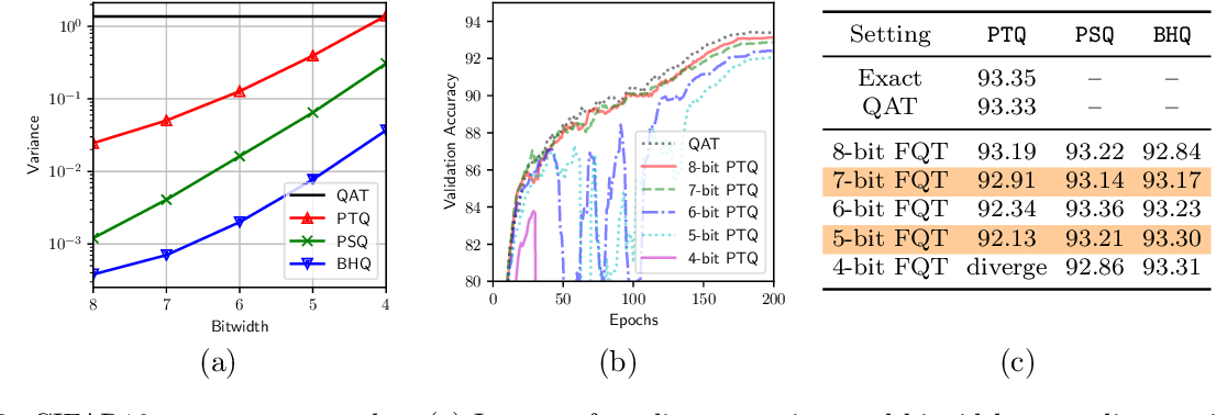 Figure 4 for A Statistical Framework for Low-bitwidth Training of Deep Neural Networks