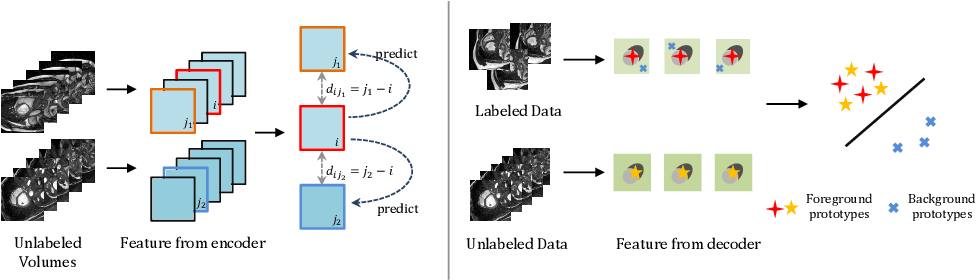 Figure 1 for Bootstrap Representation Learning for Segmentation on Medical Volumes and Sequences