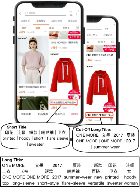 Figure 1 for Automatic Generation of Chinese Short Product Titles for Mobile Display
