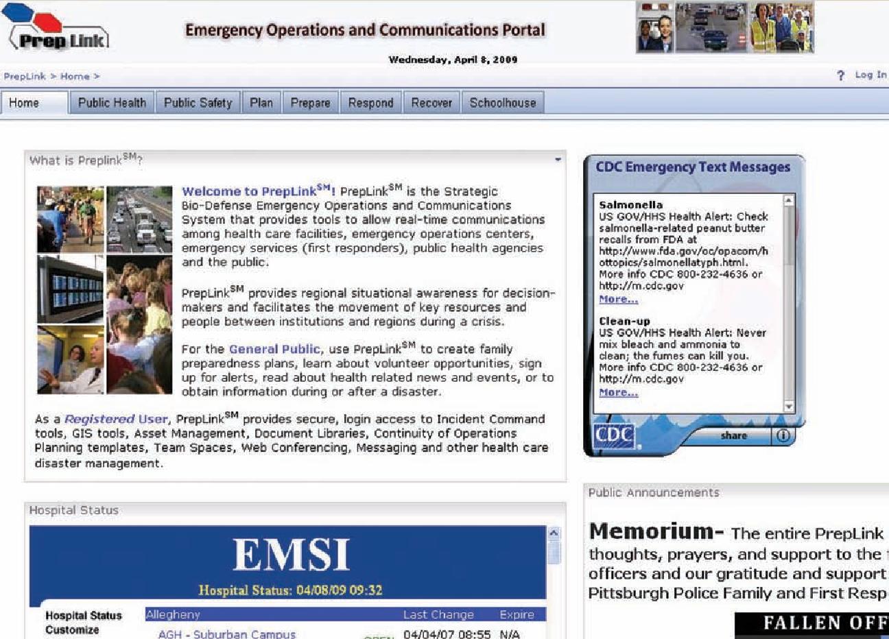 PrepLink: a novel web-based tool for healthcare emergency planning ...