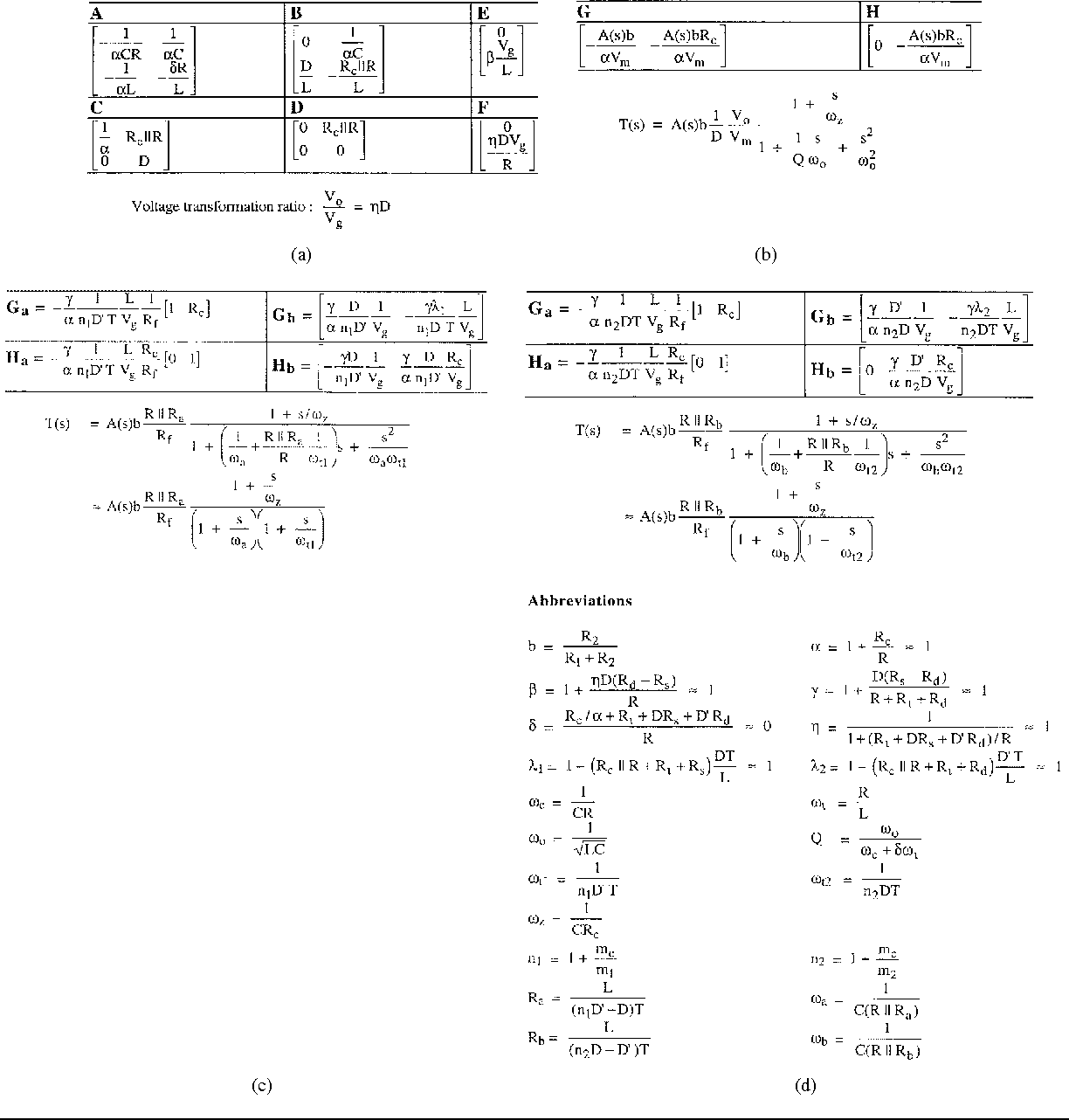Table II from Signal flow graph in loop gain analysis of DC