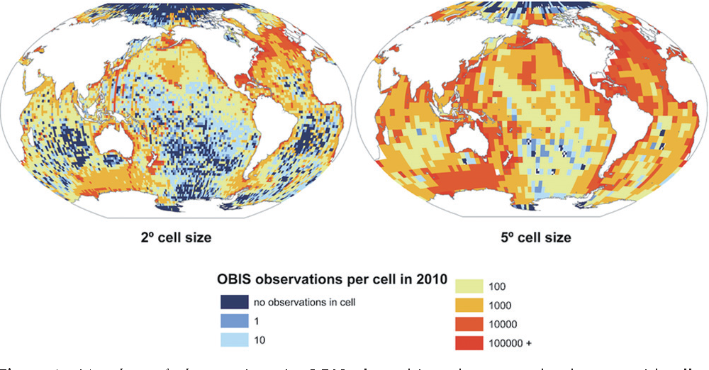 Advancing Global Marine Biogeography Research with Open-source GIS