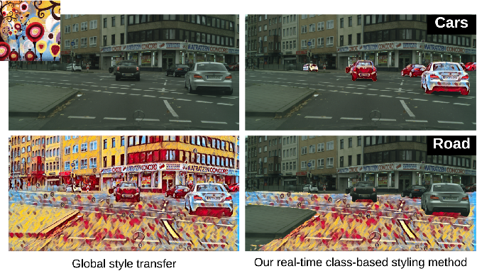 Figure 1 for Class-Based Styling: Real-time Localized Style Transfer with Semantic Segmentation