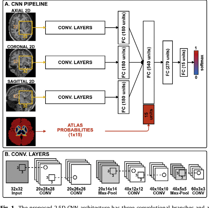 Figure 1 for Automated sub-cortical brain structure segmentation combining spatial and deep convolutional features
