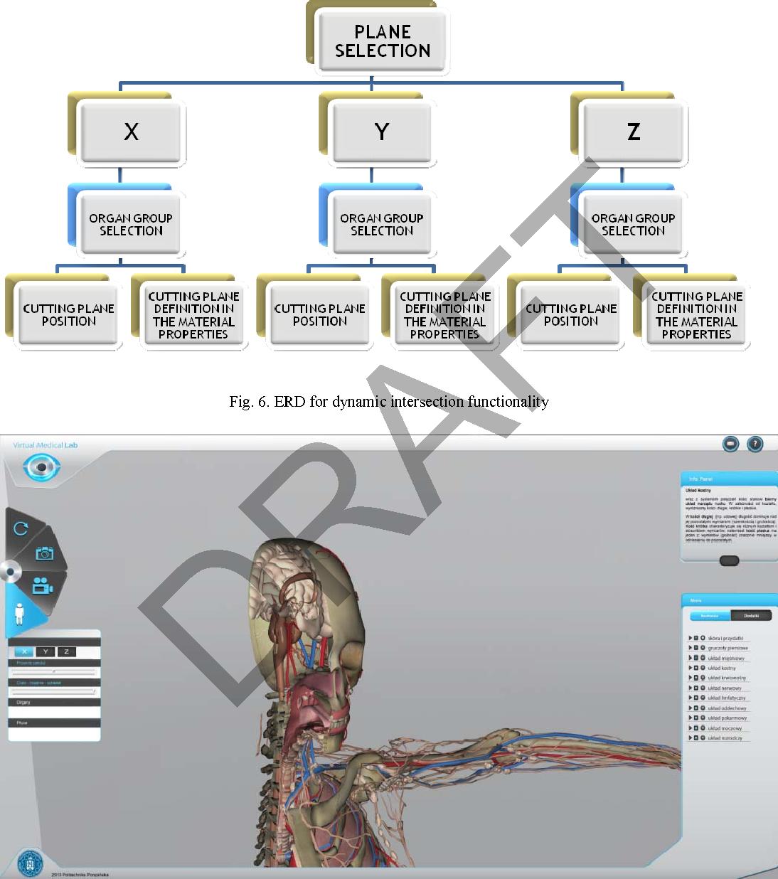 Virtual 3D Atlas of a Human Body - Development of an