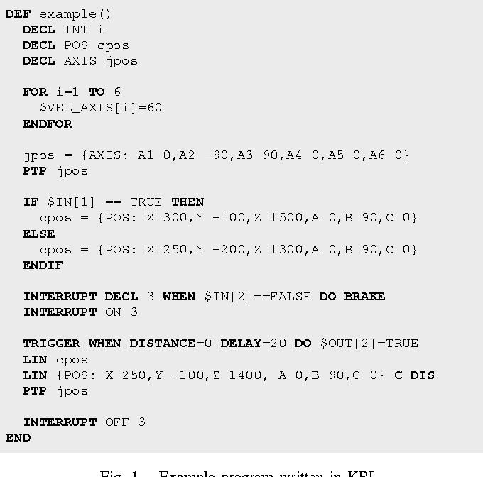 Figure 1 from On reverse-engineering the KUKA Robot Language