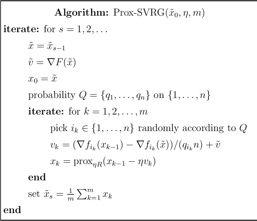 Figure 1 for A Proximal Stochastic Gradient Method with Progressive Variance Reduction