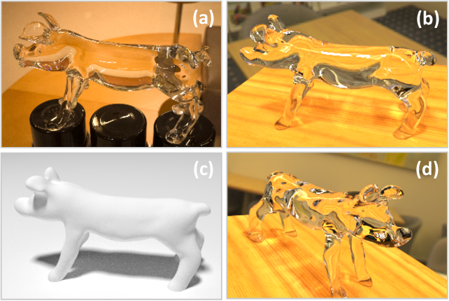 Figure 1 for Through the Looking Glass: Neural 3D Reconstruction of Transparent Shapes