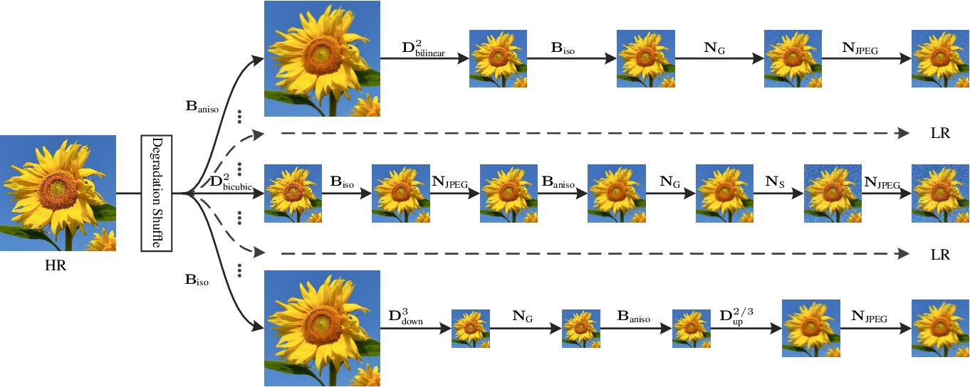 Figure 1 for Designing a Practical Degradation Model for Deep Blind Image Super-Resolution