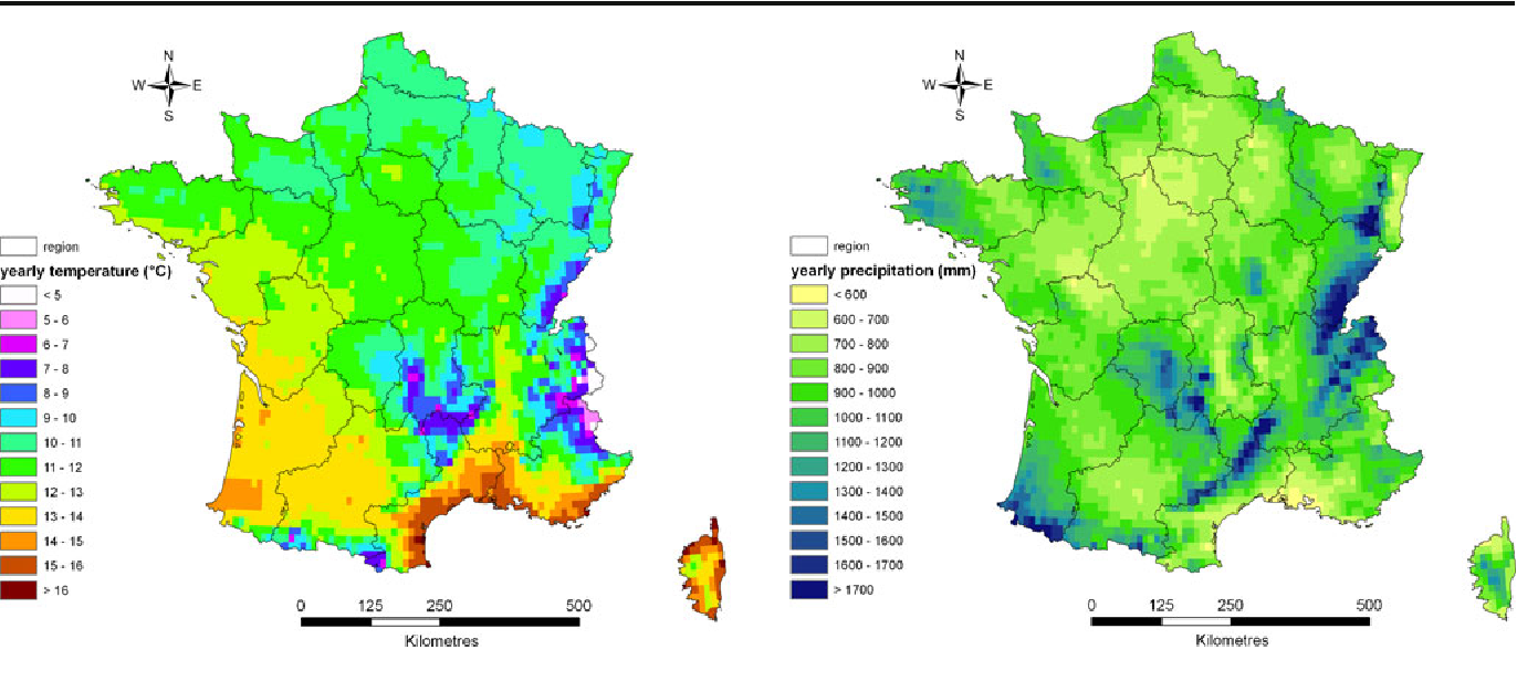 Map Of France 1600.Figure 2 From A High Resolution Map Of French Soil Organic Carbon
