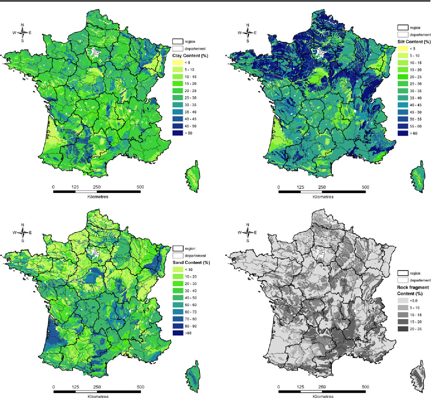 Figure 4 from A high resolution map of French soil organic carbon