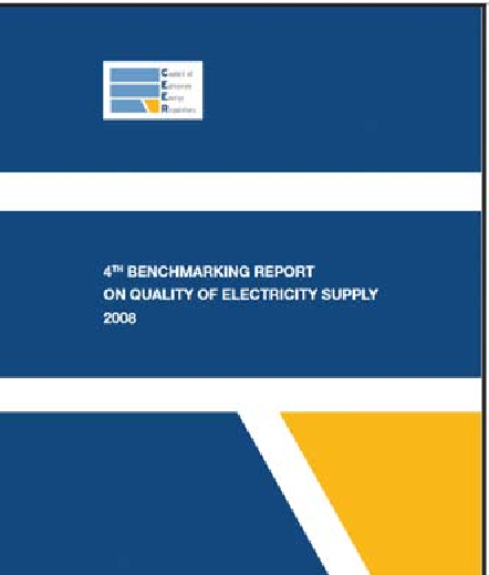 Fig. 1. Cover of the 4th CEER Benchmarking Report on Quality of Electricity Supply.
