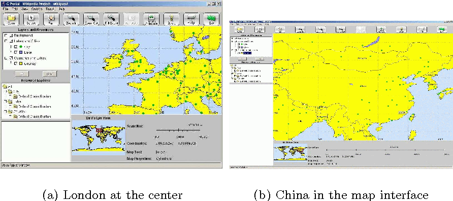 Fig. 4. G-Portal's map interface with computed bounding rectangle region