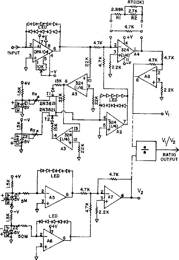 Logarithmic Current Electrometer Using Light Emitting Diodes