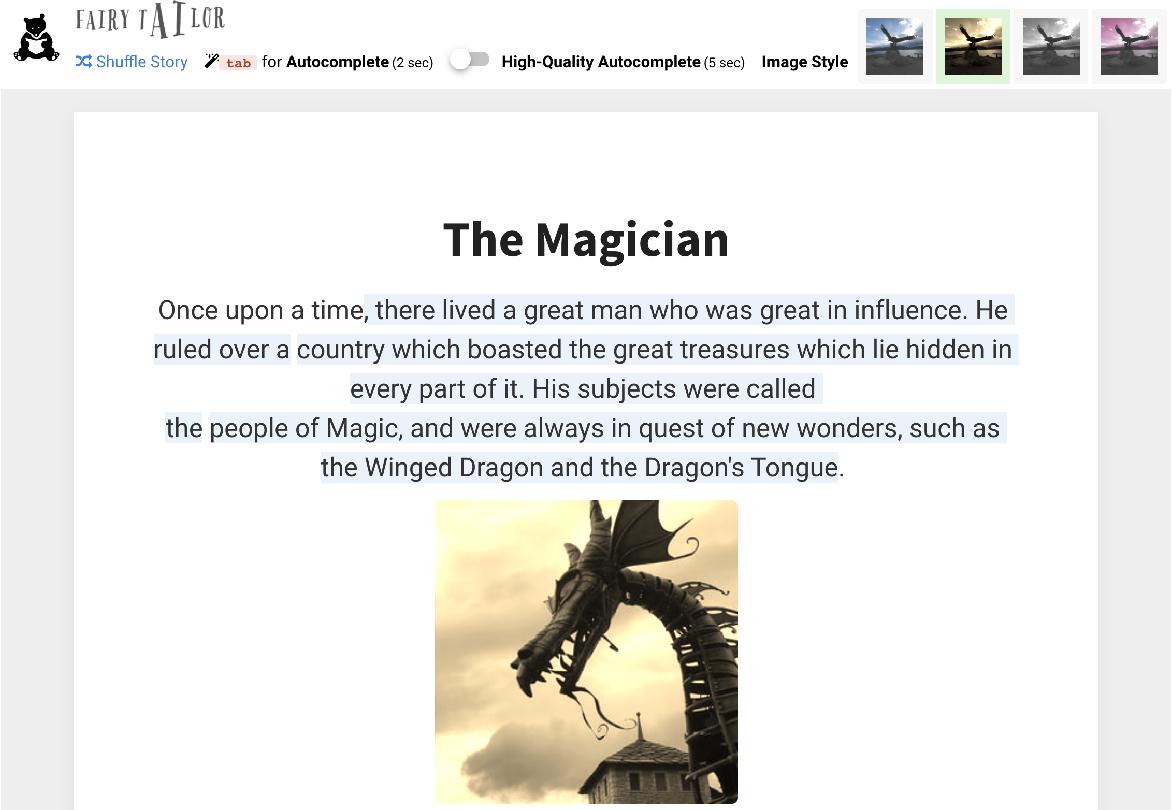 Figure 1 for FairyTailor: A Multimodal Generative Framework for Storytelling