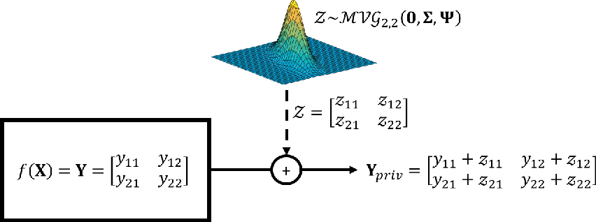 Figure 1 for A Differential Privacy Mechanism Design Under Matrix-Valued Query