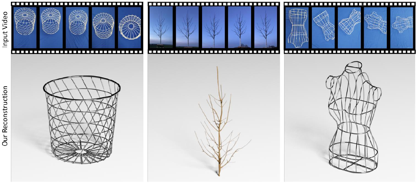 Figure 1 for Vid2Curve: Simultaneous Camera Motion Estimation and Thin Structure Reconstruction from an RGB Video