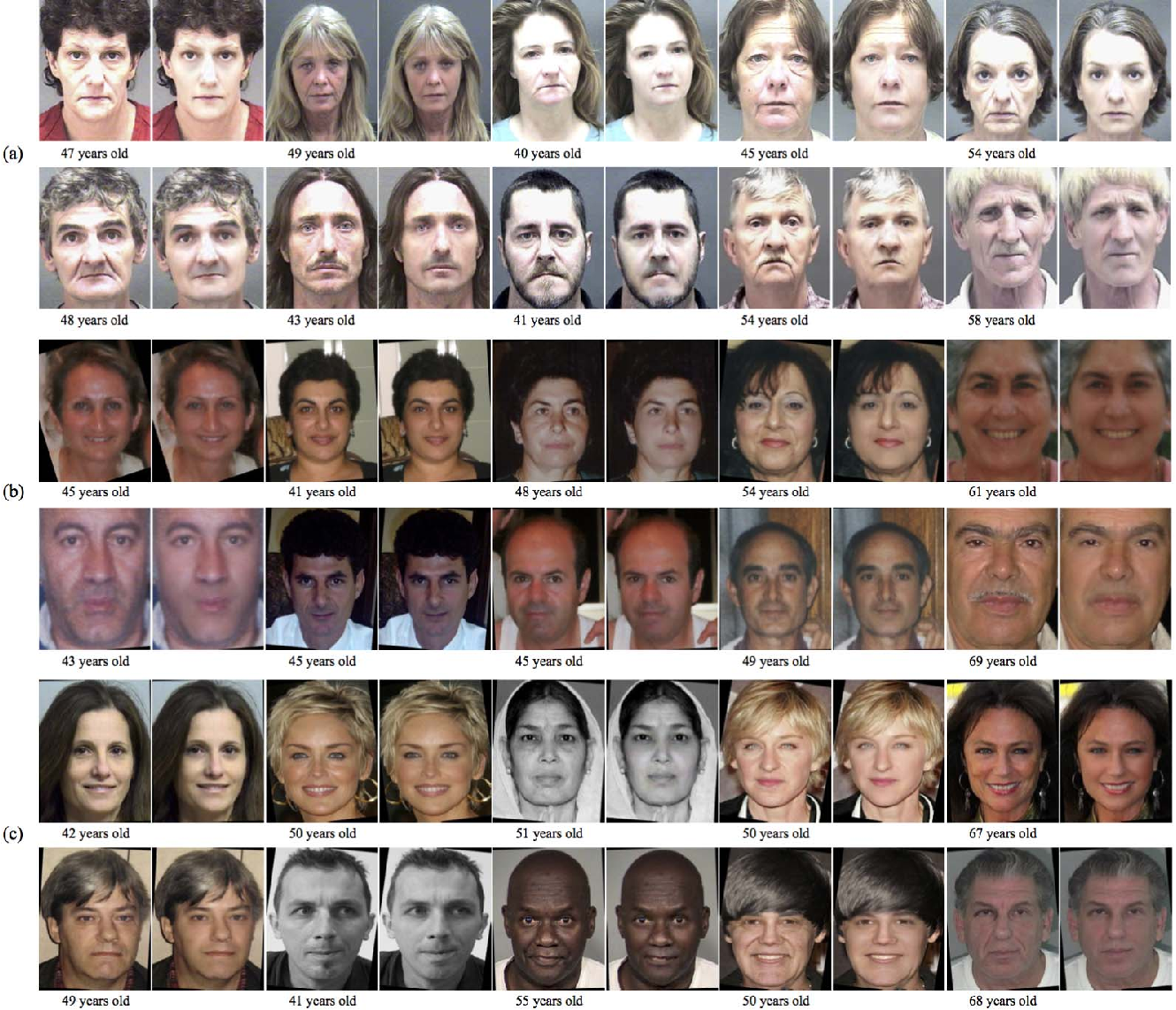 Figure 3 for Face Aging Effect Simulation using Hidden Factor Analysis Joint Sparse Representation