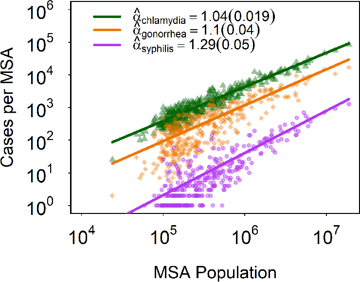 On the Scaling Patterns of Infectious Disease Incidence in