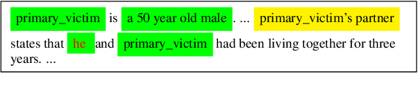 Figure 1 for Adapting Coreference Resolution for Processing Violent Death Narratives