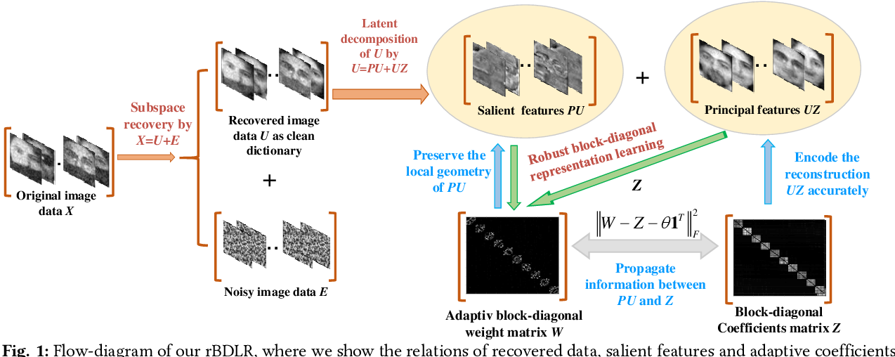 Figure 1 for Robust Subspace Discovery by Block-diagonal Adaptive Locality-constrained Representation