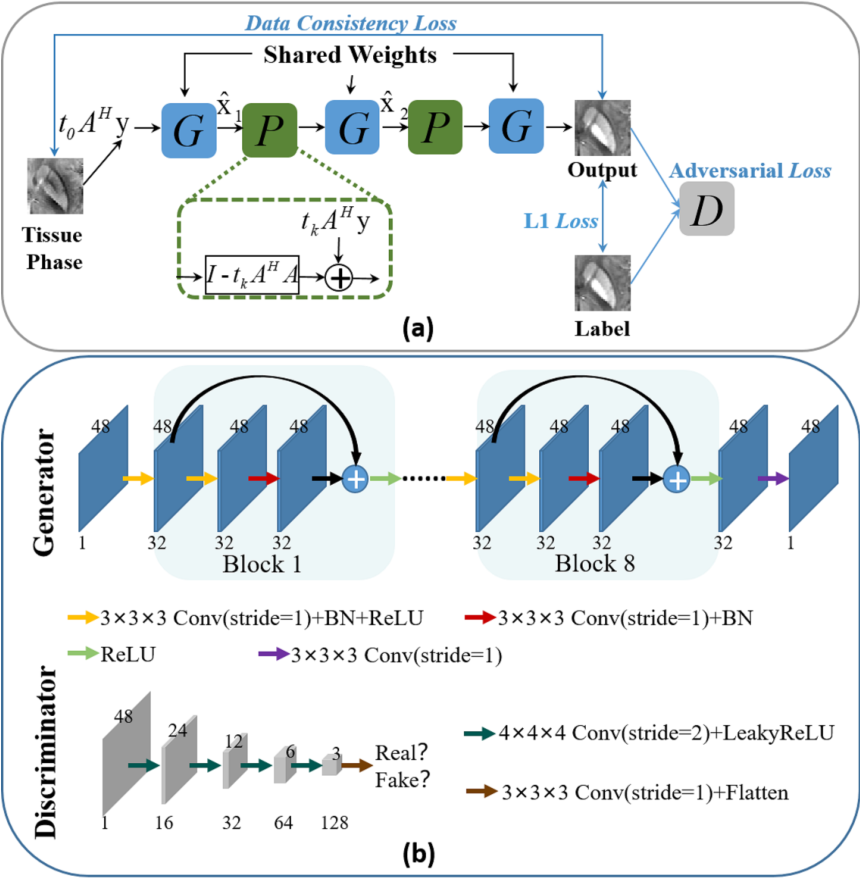 Figure 1 for MoG-QSM: Model-based Generative Adversarial Deep Learning Network for Quantitative Susceptibility Mapping