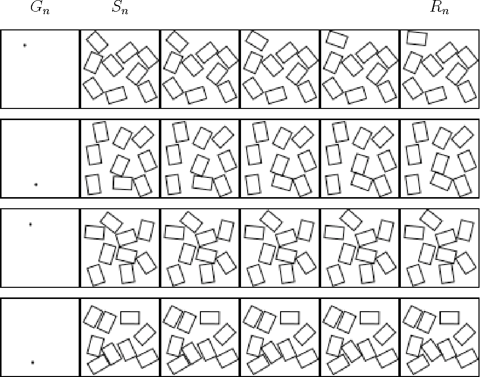 Figure 1 for Predicting the dynamics of 2d objects with a deep residual network
