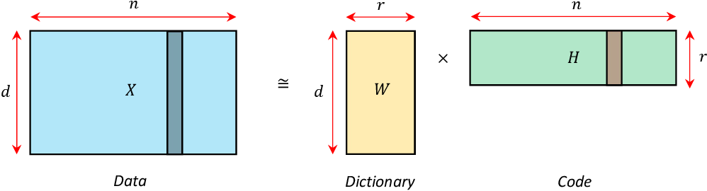 Figure 1 for Online matrix factorization for Markovian data and applications to Network Dictionary Learning