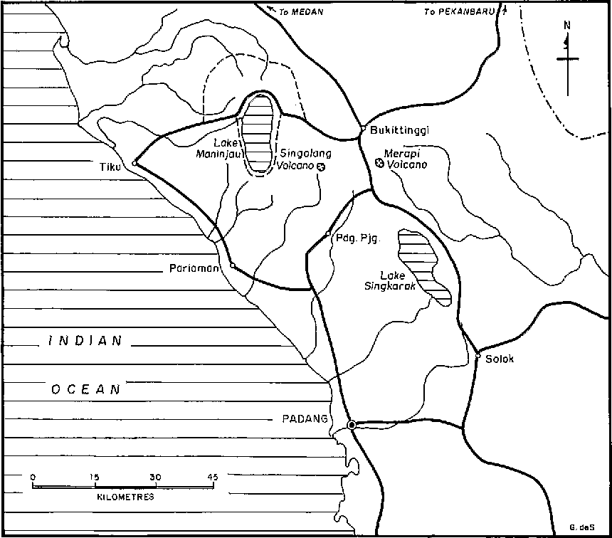 Figure 1. The location of the study area in West Sumatra.