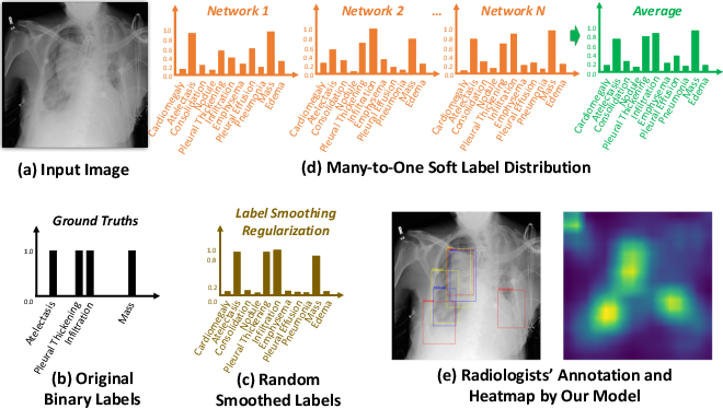 Figure 1 for Many-to-One Distribution Learning and K-Nearest Neighbor Smoothing for Thoracic Disease Identification