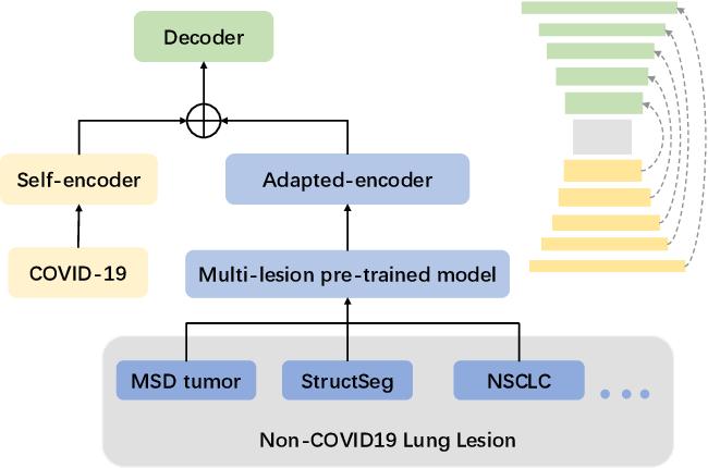 Figure 1 for Does Non-COVID19 Lung Lesion Help? Investigating Transferability in COVID-19 CT Image Segmentation