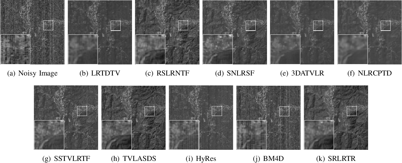 Figure 2 for Hyperspectral Image Denoising with Partially Orthogonal Matrix Vector Tensor Factorization
